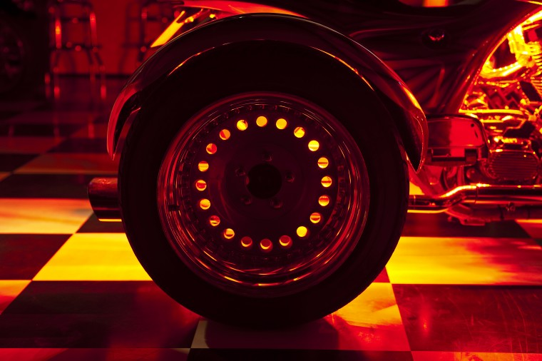 LED red trike wheel